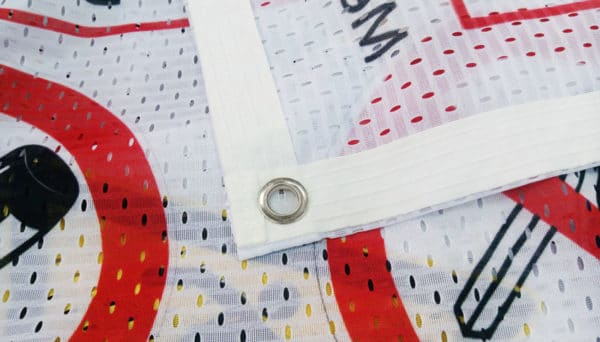 Stoff Banner Randverstärkt und Ösen
