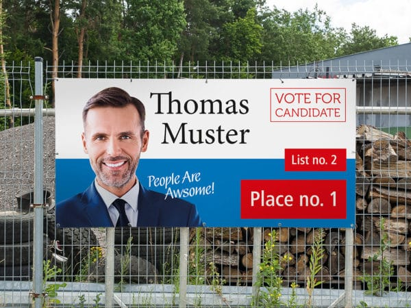 election cheap vinyl banner printed