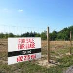 Zu Verkaufen Grundstück Banner
