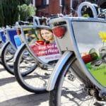 Werbung für Fahrräder