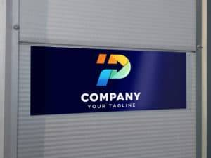 Firmenlogos auf Dibond